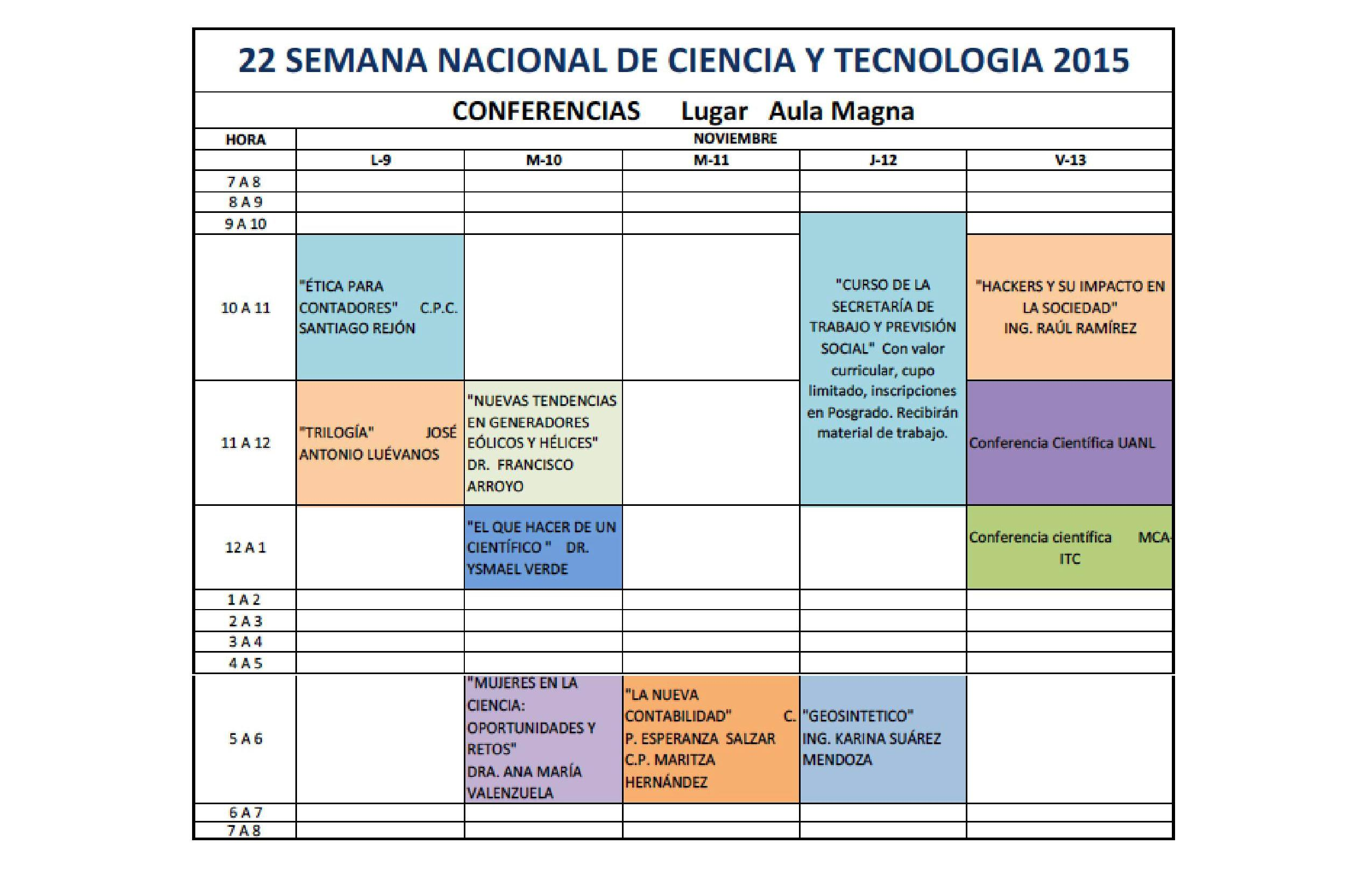 Conferencias SNCYT15